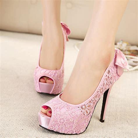 Murano Sandal Heels 5 Cm Pink dress shoes 2015 pink begie peep toe bow
