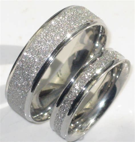 Mens Rings Wedding by Mens Or Womens Sparkleblast 6mm 4mm Sparkle Wedding Ring