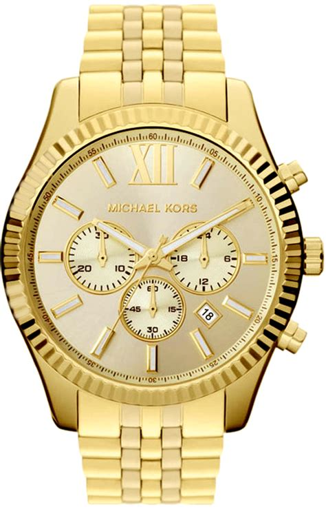 Mk Mic Hael Kors Chrono Detik Gold michael kors mk8281 mens chrono s big