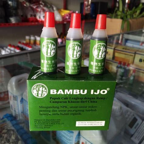 Pupuk Bunga Organik pupuk organik cair bambu ijo 12ml jual tanaman hias