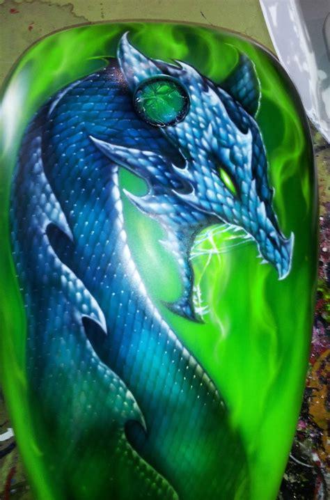 dragon motocross airbrushed dragon on motorcycle tank motorcycles