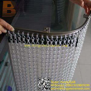 decorative l hs code china aluminium chain link door curtain china metal