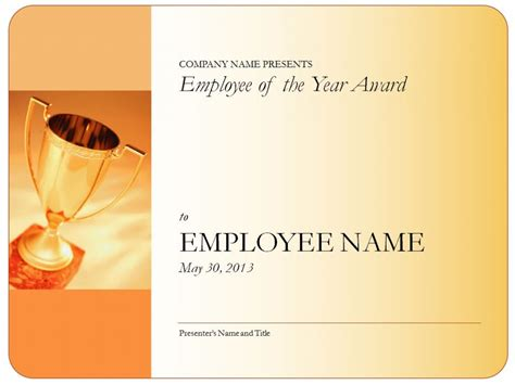 employee of the year certificate employee of the year