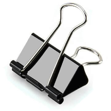 photo display clips 24pieces 41mm metal paper clip black binder clip letter