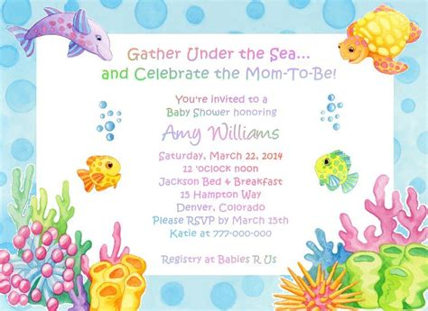 the sea invitations templates the sea baby shower invitations dolanpedia