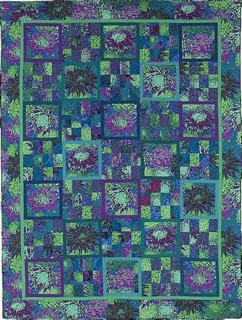 Tennesse Quilts by Kaffe Fassett Reflecting Pool Quilt From Quilts In Sweden Fabric Pack Seen At Tennessee