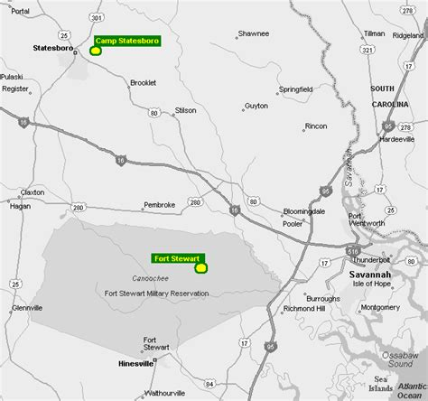 map of fort stewart index of maps