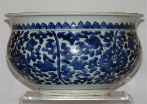 blue and white porcelain kangxi blue and white porcelain chinese censer 1662 to