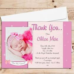 10 personalised baby birth announcement thank you photo cards n102