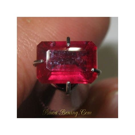 Permata Ruby Cutting Hq Tanz 121 batu ruby warna top luster bagus rectangular 1 21 carat