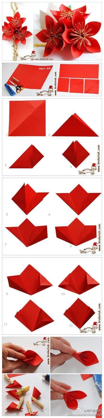 Origami Poinsettia - origami poinsettia pictures photos and images for
