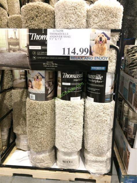 costco thomasville rug thomasville andover shag rug 5 3 x 7 5 costcochaser