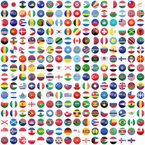 flags of the world round flat round world flag icon set 255 free icons icon