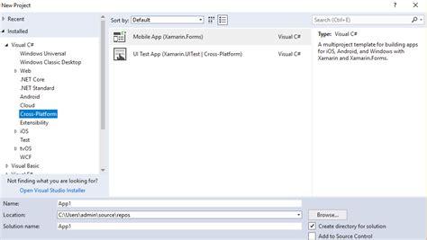 templates for xamarin forms xamarin forms xamarin templates missing in visual studio