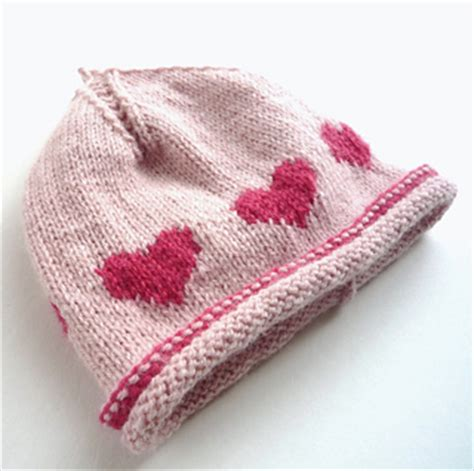 ravelry patterns library little hearts ravelry baby beanie little hearts flat knitting