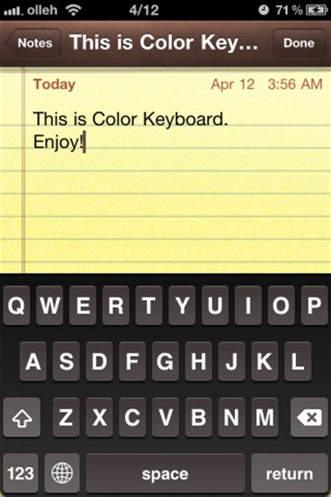 good keyboard themes cydia applications cydia color keyboard iphone astuces