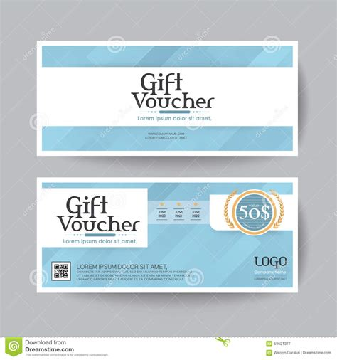gift voucher design vector template layout for business