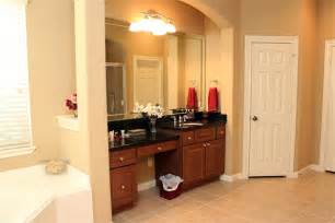 Bathroom Vanity With Makeup Area by 2527 Hendricks Lakes Dr Spring Tx 77388 Har Com