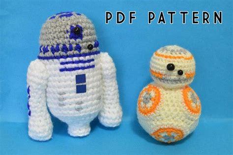 pattern amigurumi bb8 r2d2 and bb8 star wars droids crochet pattern by