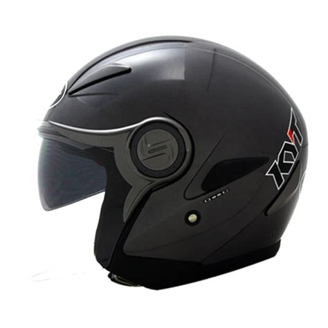 Kyt Elsico Solid Black helm kyt renova solid pabrikhelm jual helm murah