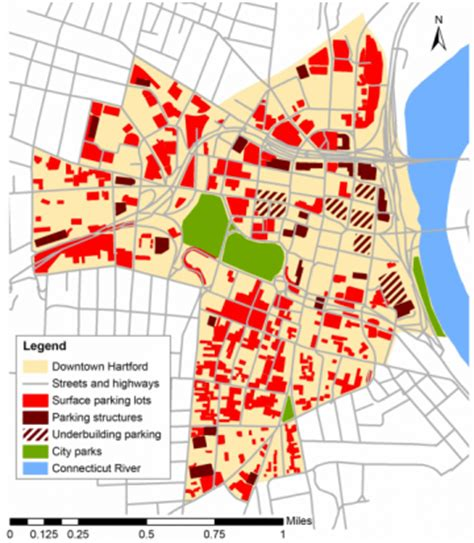 hartford usa map much parking not a shortage is downtown hartford s