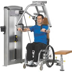 Commercial Workout Bench Total Access Chest Press Disabled Accessible Fitness