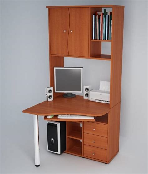 Corner Kitchen Cabinet Storage Ideas by Computer Desk For Small Spaces And Efficient Space