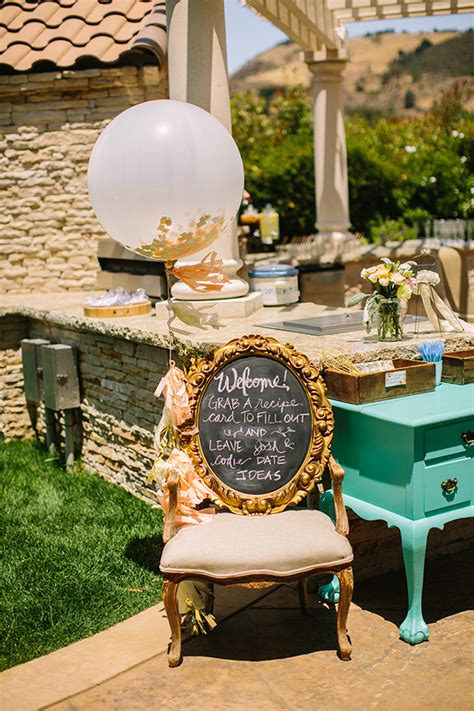 vintage backyard bridal shower bridal shower