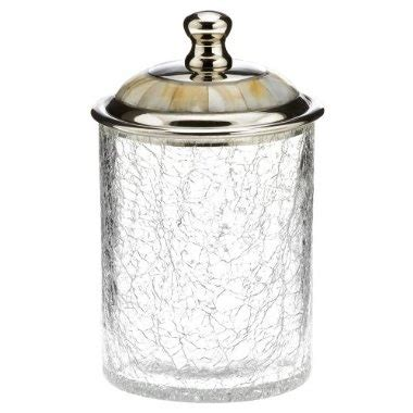 Large Mosaic Canister fieldcrest crackle glass small canister at target 13