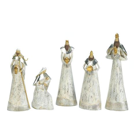 weathered white nativity set wholesale at koehler home decor