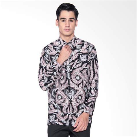 Baju Kemeja Panjang Mix Motif Batik Cowok Pria Laki Laki jual danar hadi print motif parang samudra black mix kemeja batik panjang pria white 03 0717