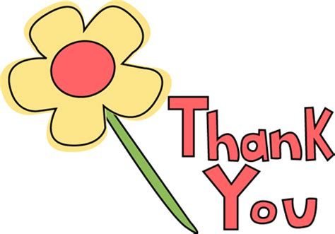 Clipart Thanks thank you flower image thank you flower clip