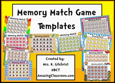 memory concentration game templates promethean
