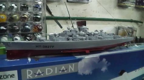 barco de vapor de guerra abriendo mi regalo de reyes barco de guerra ht 3827f r c