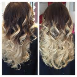 brown to light ombre hair made by pizofcake