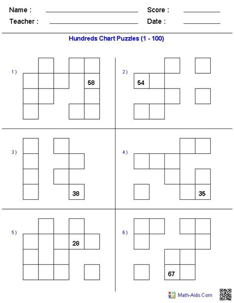 printable hundreds chart puzzles puzzles with hundreds chart great website you can create