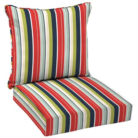 Hampton Bay Francesca Stripe 2 Piece Deep Seating Outdoor
