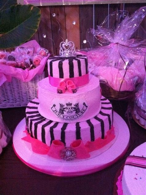 juicy couture baby shower decorations my creations juicy couture baby shower cake baby girl shower ideas