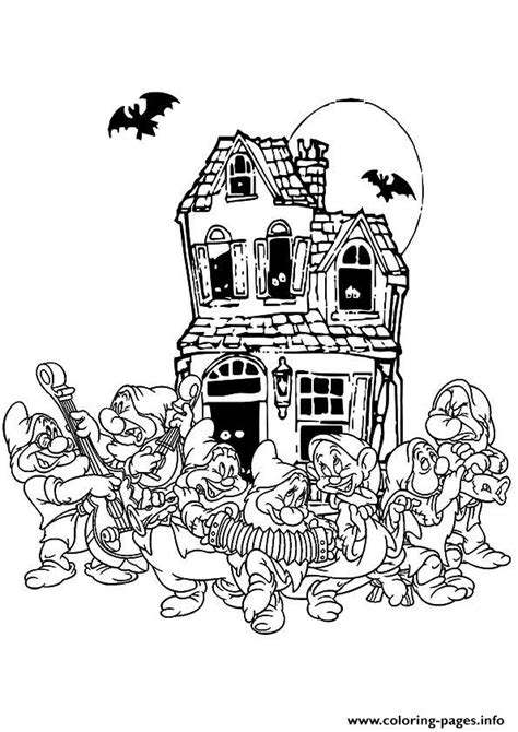 house  pages disney disney halloween coloring pages