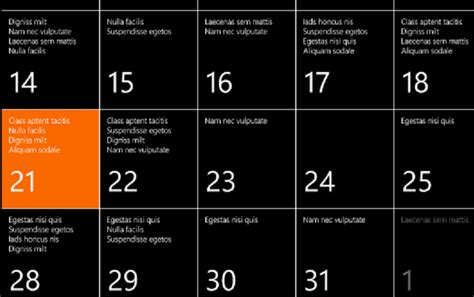 What Calendar Is On Windows 8 Lorem Ipsum In Windows Phone 8 Calendar Matt