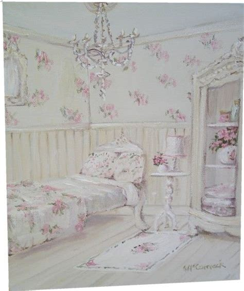 original whimsical painting the shabby chic floral guest