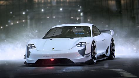 porsche mission e red porsche mission e concept wallpaper hd car wallpapers