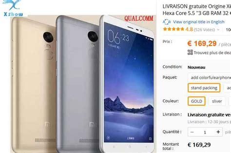 Go For Xiaomi Redminote 3 Redminote 3 Pro Redmi 3 Pro bonne affaire xiaomi redmi note 3 32go 224 169 bons plans