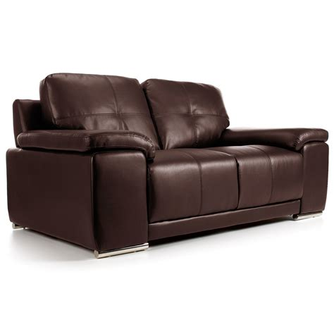 Leather Sofa Sacramento Special Offer Sacramento Brown Leather 2 Seater Sofa Next Day Delivery Special Offer