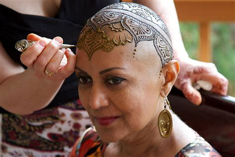 head tattoo healing elegant henna tattoo crowns help cancer patients cope with