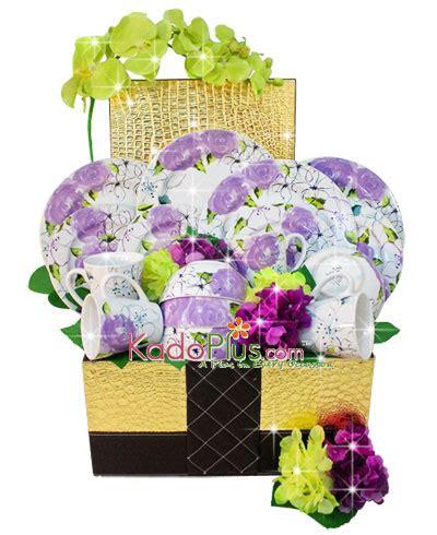 Piring Plate Florist parcel keramik lebaran dinner set 2 toko bunga