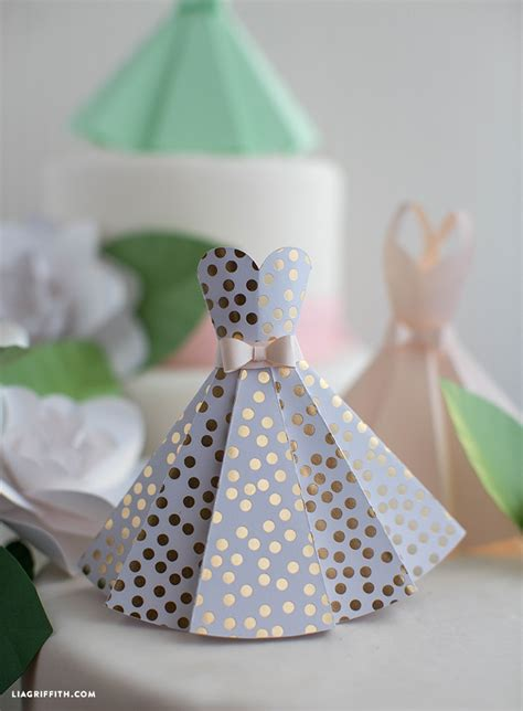 Wedding Paper Crafts - paper dress diy wedding decorations lia griffith