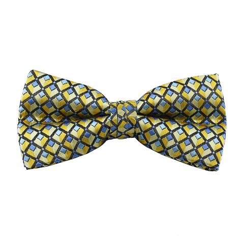 yellow pattern bow tie yellow pattern band bow tie