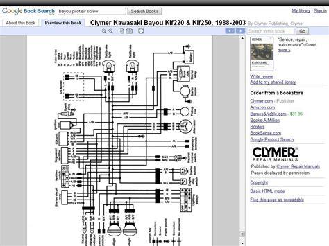 kawasaki bayou  wiring harness wiring diagram schemas
