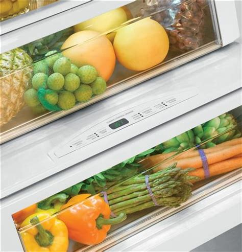 Veggie Drawer Humidity monogram 174 42 quot built in side by side refrigerator